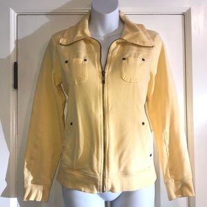 Style & Co Yellow Turtleneck Zipper Jacket- Small